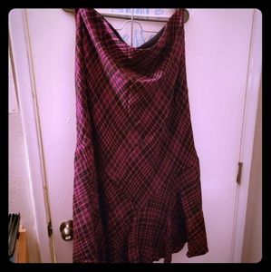 NWOT Pink and black plaid skirt